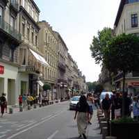 Rue de la République, the city's central boulevard in Avignon, France