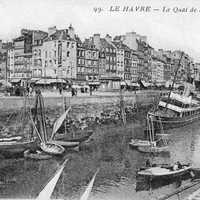 Southampton Quay in the 1920s in France