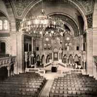 Strasbourg's monumental Romanesque revival synagogue Before Nazi Invasion, France