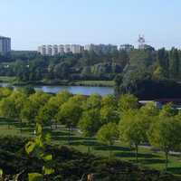 The Sausset departmental park in Aulnay-sous-bois, France