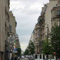 Typical street in Levallois, France