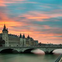 Bridge and Castle in Paris, France