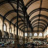 Library Interior in Paris, France