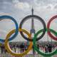 Olympic Rings around the Eiffel Tower