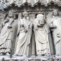 The Side of Notre Dame in Paris France