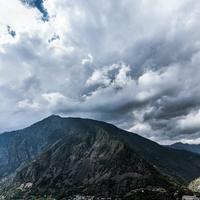 Clouds over Andorre in the Pyrenees