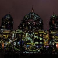 Berlin Cathedral During the Festival of lights