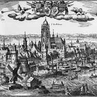 Illustration of Frankfurt in 1612