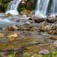 Waterfalls and River landscape with rocks in Oberstdorf, Germany