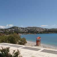 Beach in Vouliagmeni in Athens, Greece