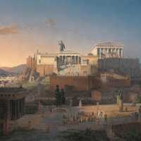 Idealized Reconstruction of the Acropolis of Athens