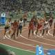 Runners in the Olympics in 2004 in Athens, Greece
