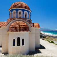 Orthodox church in Crete, Greece