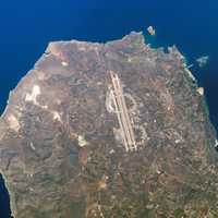 Aerial view of Chania International Airport in Greece