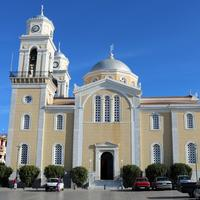 Church of Ypapanti at the center of the city in Kalamata, Greece