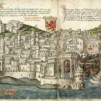Depiction of Candia, 1487 in Heraklion, Greece