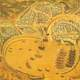 Drawing of Chios, Greece in the 16th century
