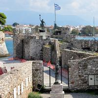 Fortifications of the port of Nafpaktos in Greece