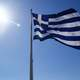 Greek Flag flowing in the wind