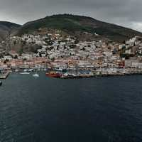 Hydra Island Shoreline in greece