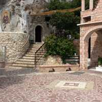 Inside the monastery of St Patapius in Loutraki, Greece