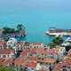 Nafpaktos; view from the fortress in Greece