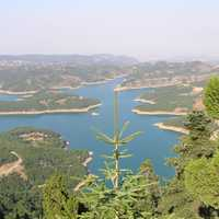Plastiras' Lake, near the city in Karditsa, Greece