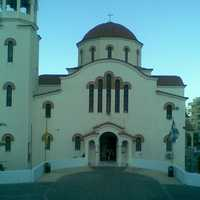 Prophet Elias church in Agia Barbara in Greece