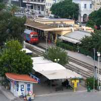 Railway station in Patras, Greece