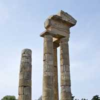Ruins of the Temple of Apollo in Rhodes, Greece