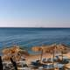 Seashore landscape and resort in Chios, Greece