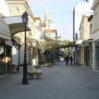 View of a central street in Komotini, Greece