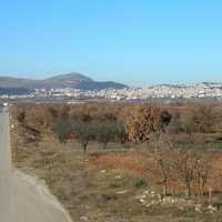 View of Kozani landscape from the south in Greece