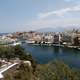 View of the port at Agios Nikolaos, Greece