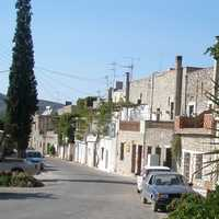 View of the village of Mesta in Chios, Greece