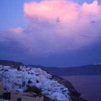 Dusk over Santorini, Greece