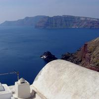 Panoramic View of Santorini Caldera from Oia