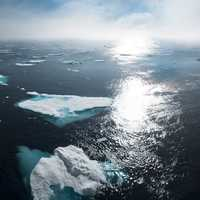 Ice Flows on Water in Greenland