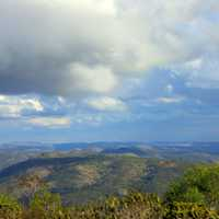 Clouds over hills in Pignon, Haiti