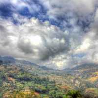 Cloudy Mountain Landscape near Haiti Baptist Mission