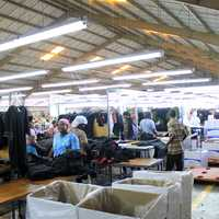 Inside the Factory at Port-Au-Prince, Haiti