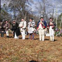 American Soldiers reenactment at the battle of cowpens in the American Revolution
