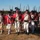 British Soldiers Reenactors at Cowpens Battlefield during the American Revolution