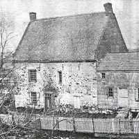 Front of the original Vechte-Cortelyou House in the American Revolution
