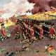 Painting of British Troops marching up the hill at the Battle of Bunker Hill