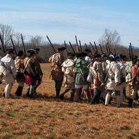 Reenactment of Militia and Troops of the American Army at the Battle of Cowpens