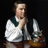 Silversmith Paul Revere, famous for the horseback ride at Lexington and Concord