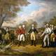 Surrender of General Burgoyne at Saratoga during the American Revolution