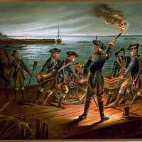 U.S. Army - Artillery Retreat from Long Island 1776 during the American Revolution