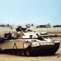 British Army Challenger 1 main battle tank During Desert Storm